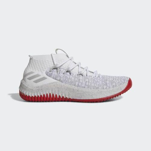 (取寄)アディダス メンズ デイム 4シューズ バスケットボールシューズ adidas Men's Dame 4 Shoes Cloud White / Grey / Scarlet