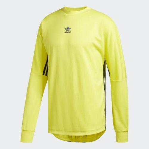 (取寄)アディダス オリジナルス メンズ オーセンティクス 3-ストライプス ジャージ adidas originals Men's Authentics 3 Jersey Shock Yellow / Collegiate Navy