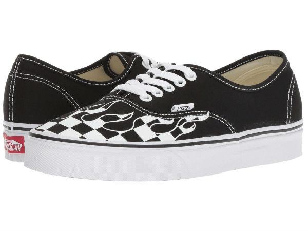 (取寄)Vans(バンズ) スニーカー オーセンティック メンズ Vans Men's Authentic (Checker Flame) Black/True White