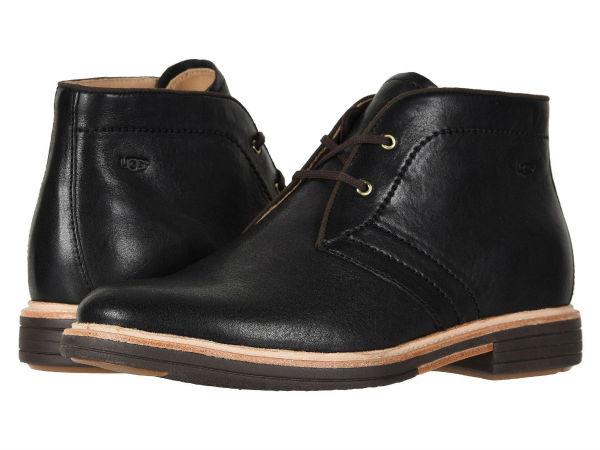 【正規品】【靴 シューズ 】【ブーツ ショートブーツ】【革 レザー】【メンズ 大きいサイズ ビッグサイズ】 (取寄)アグ メンズ チャッカブーツ Dagmann UGG Men's Dagmann Black 2
