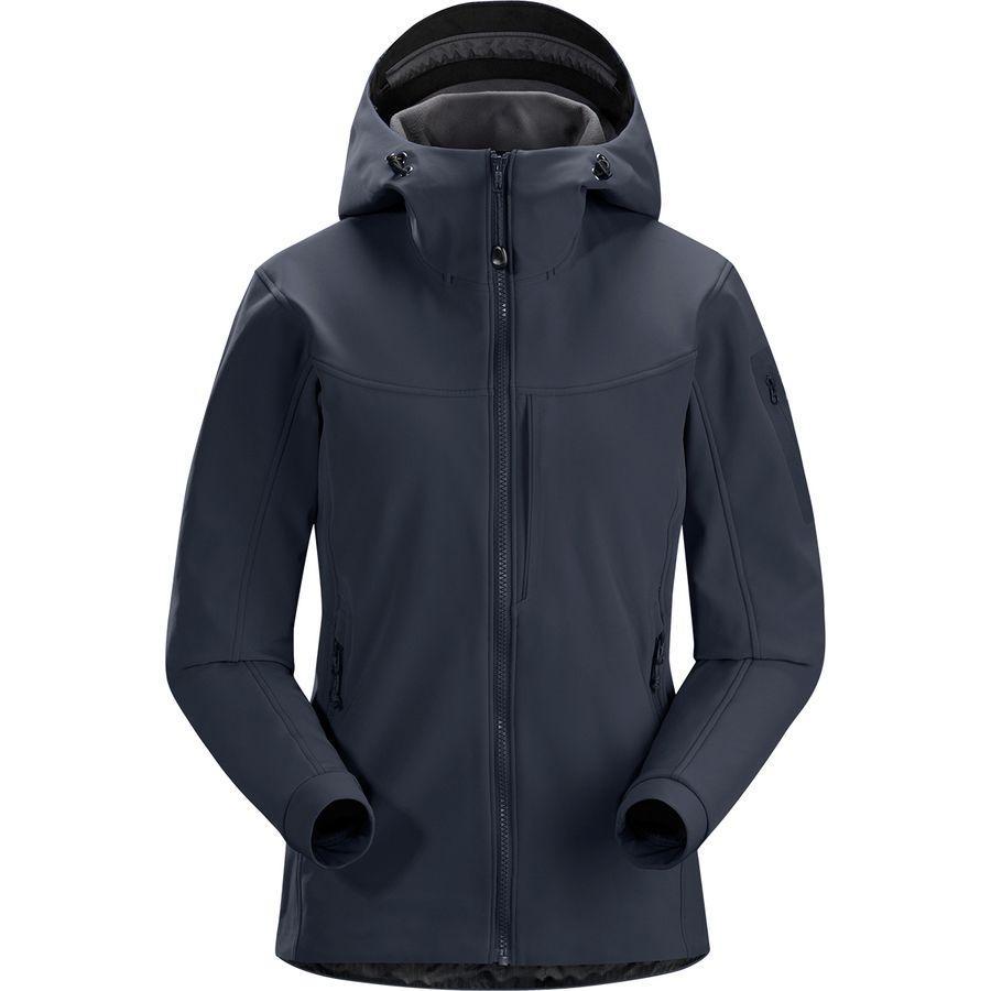 (取寄)アークテリクス レディース ガマー MX フーデッド ソフトシェル ジャケット Arc'teryx Women Gamma MX Hooded Softshell Jacket Black Sapphire Ii