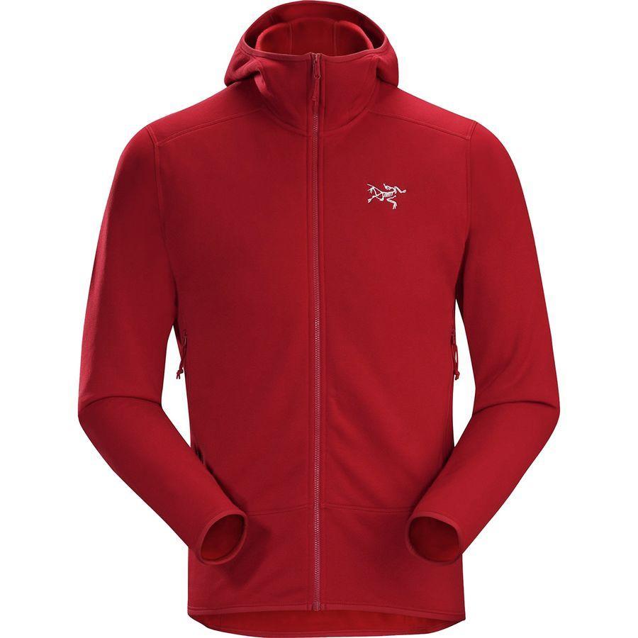 (取寄)アークテリクス メンズ カイヤナイト フーデッド フリース ジャケット Arc'teryx Men's Kyanite Hooded Fleece Jacket Red Beach