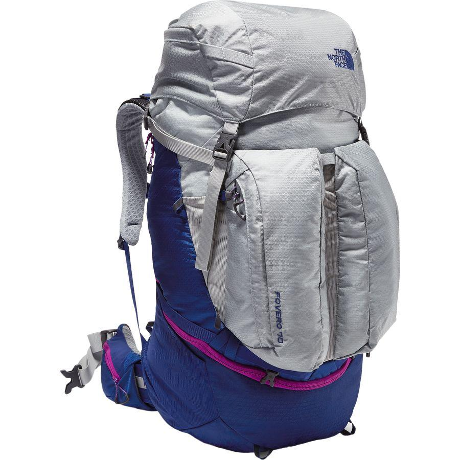 (取寄)ノースフェイス レディース Fovero 70L バックパック The North Face Women Fovero 70L Backpack High Rise Grey/Sodalite Blue