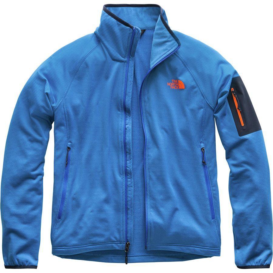 (取寄)ノースフェイス メンズ ボアード フリース ジャケット The North Face Men's Borod Fleece Jacket Turkish Sea/Urban Navy/Persian Orange