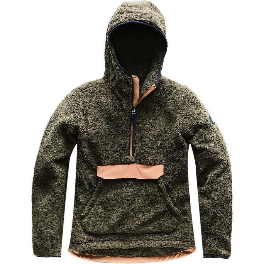 (取寄)ノースフェイス レディース Campshire フーデッド プルオーバー フリース ジャケット The North Face Women Campshire Hooded Pullover Fleece Jacket New Taupe Green/Cargo Khaki