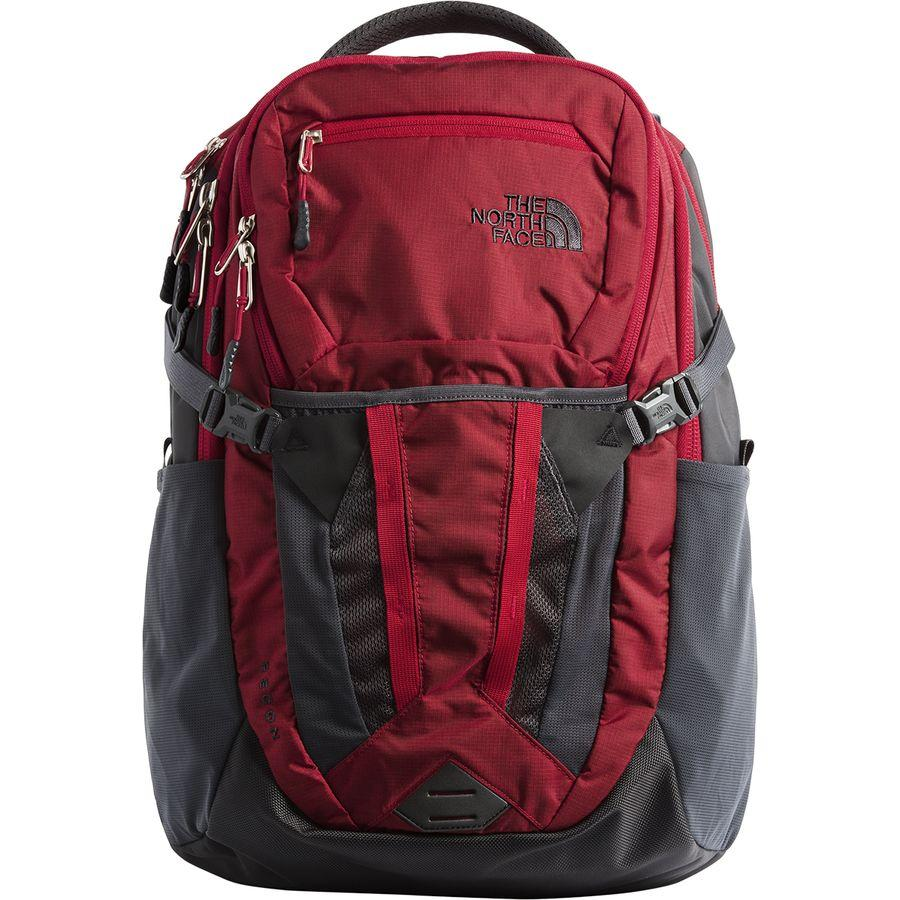 (取寄)ノースフェイス リーコン 31L バックパック The North Face Men's Recon 31L Backpack Rage Red Ripstop/Asphalt Grey