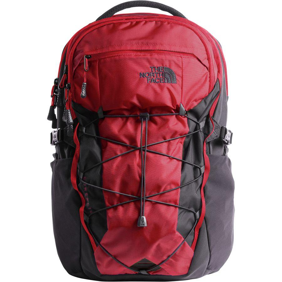 (取寄)ノースフェイス ボレアリス 28L バックパック The North Face Men's Borealis 28L Backpack Rage Red Ripstop/Asphalt Grey