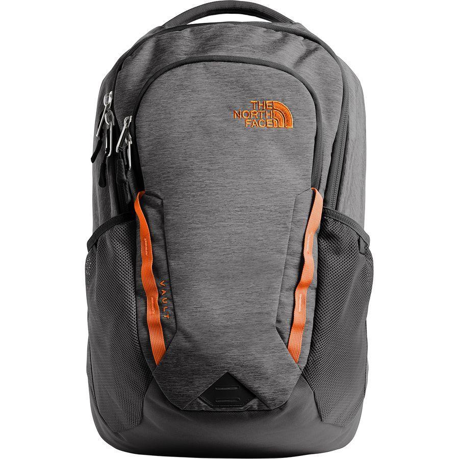(取寄)ノースフェイス ボルト 28L バックパック The North Face Men's Vault 28L Backpack Tnf Dark Grey Heather/Persian Orange