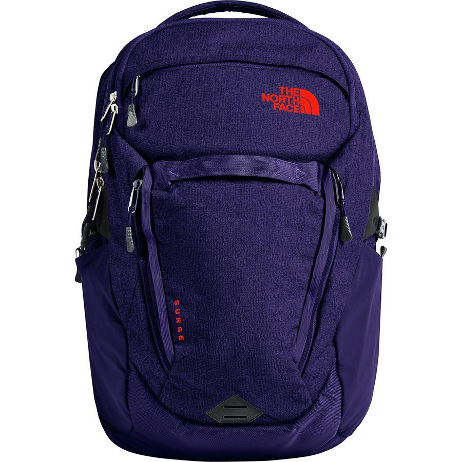 (取寄)ノースフェイス レディース サージ 31L バックパック The North Face Women Surge 31L Backpack Galaxy Purple Light Heather/Juicy Red