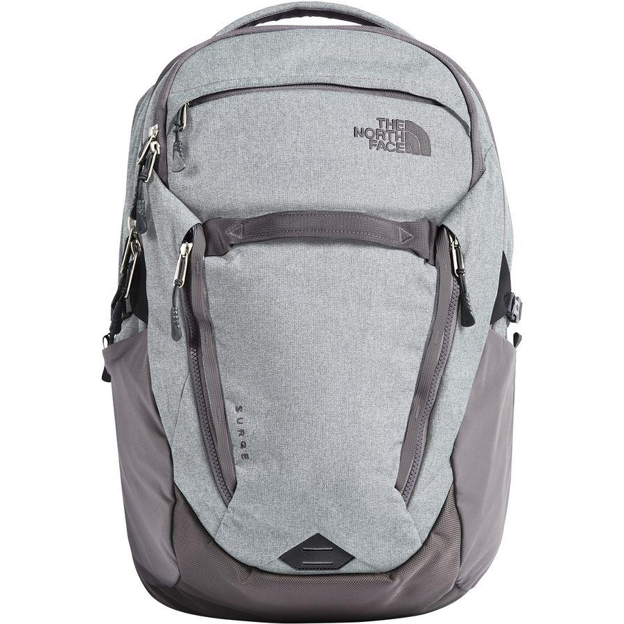 (取寄)ノースフェイス レディース サージ 31L バックパック The North Face Women Surge 31L Backpack High Rise Grey Light Heather/Rabbit Grey