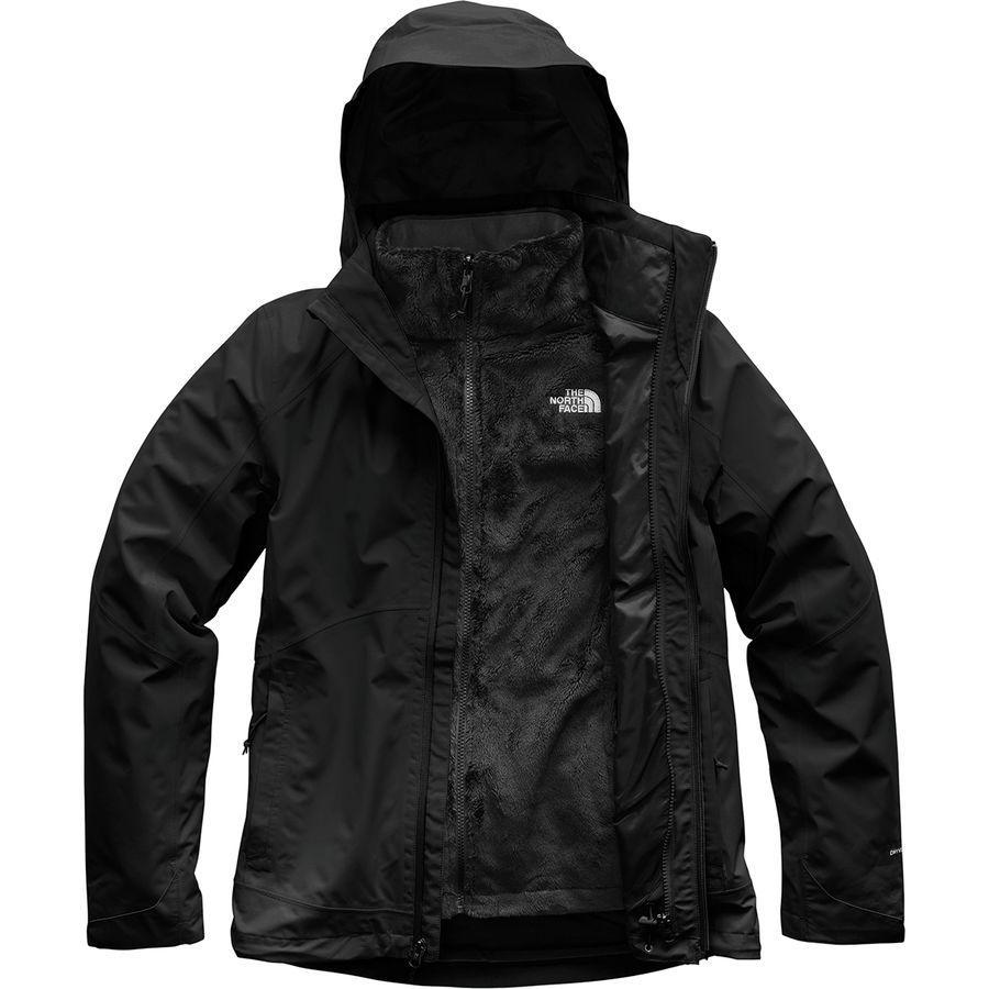 (取寄)ノースフェイス レディース Osito トリクラメイト ジャケット The North Face Women Osito Triclimate Jacket Tnf Black/Tnf Black