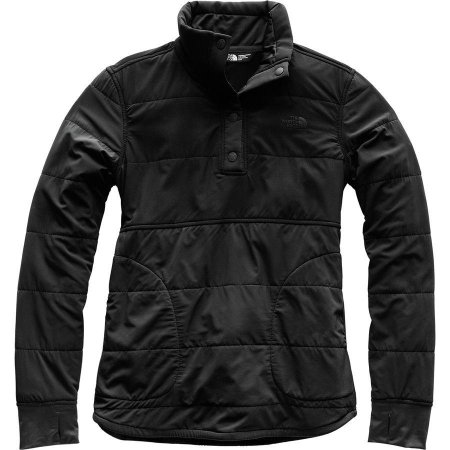 (取寄)ノースフェイス レディース マウンテン 1/4-Snap トレーナー The North Face Women Mountain 1/4-Snap Sweatshirt Tnf Black/Tnf Black