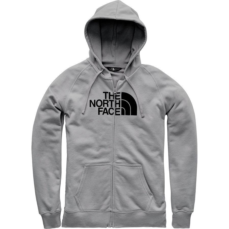 444337ea1 (order) North Face Lady's half-dome full zip parka The North Face Women  Half Dome Full-Zip Hoodie Tnf Medium Grey Heather/Tnf Black