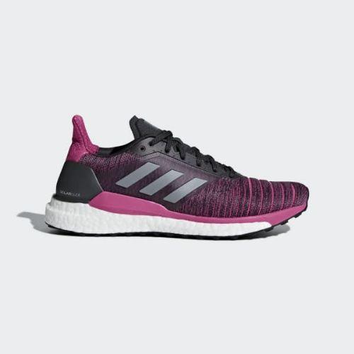 (取寄)アディダス レディース ソーラー グライド ランニングシューズ adidas Women Solar Glide Shoes Carbon / Grey / Real Magenta