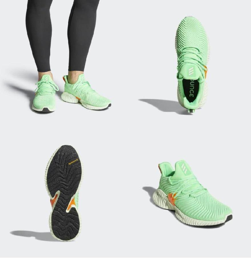 timeless design b3a5a 267ca (order) アディダスメンズアルファバウンスインスティンクトランニングシューズ adidas Mens Alphabounce Instinct  Shoes Shock Lime  Aero Green  Hi-Res Orange