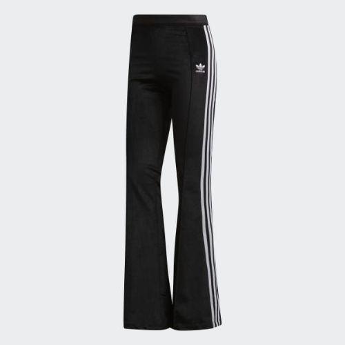 (取寄)アディダス オリジナルス レディース フレア トラック パンツ adidas originals Women Flared Track Pants Black