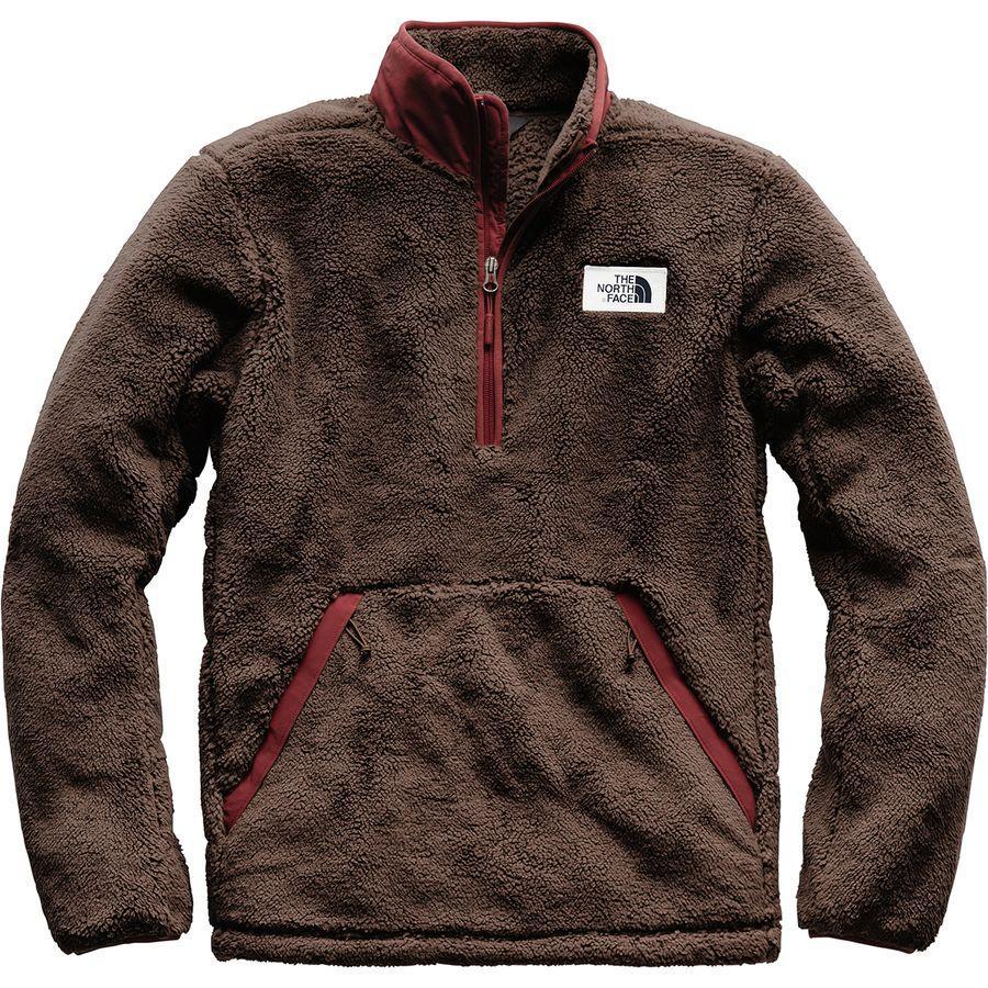 (取寄)ノースフェイス メンズ Campshire フリース プルオーバー The North Face Men's Campshire Fleece Pullover Bracken Brown/Sequoia Red