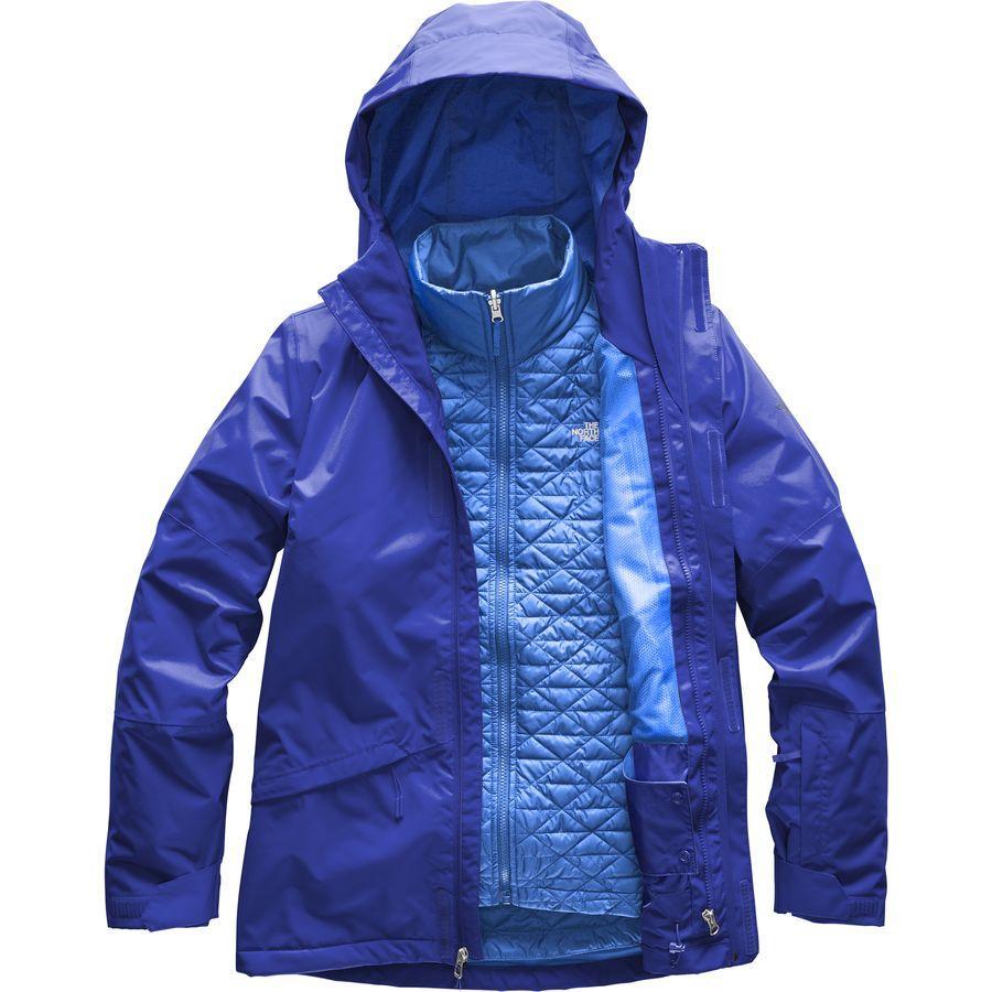 (取寄)ノースフェイス レディース ThermoBall スノー トリクラメイト フーデッド 3-In-1 ジャケット The North Face Women ThermoBall Snow Triclimate Hooded 3-In-1 Jacket Sodalite Blue