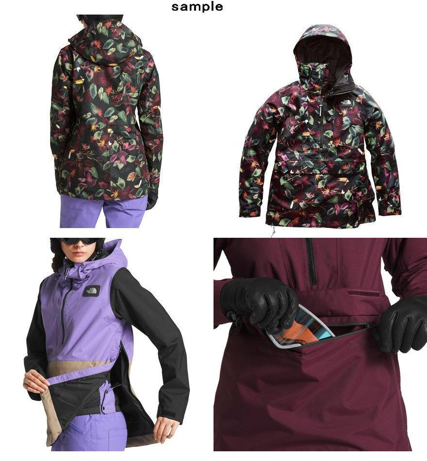 80c16496d (order) North Face Lady's shelf jar anorak hooded jacket The North Face  Women Tanager Anorak Hooded Jacket Tnf Black Toucan Print
