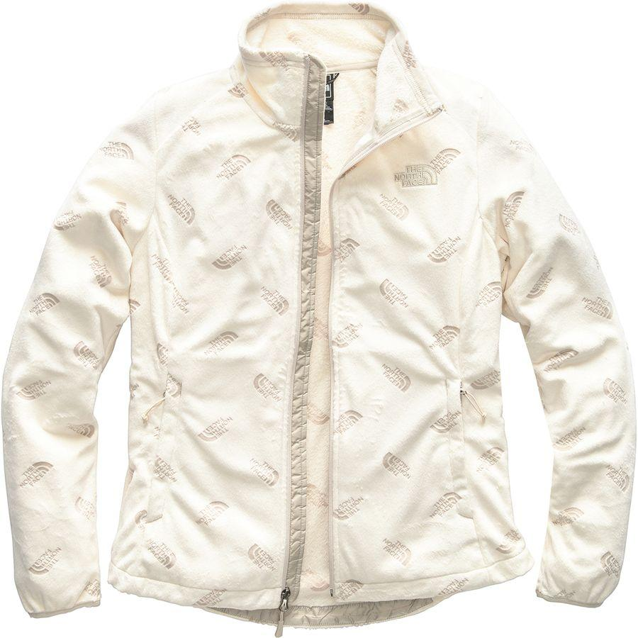 (取寄)ノースフェイス レディース ノベルティ Osito ジャケット The North Face Women Novelty Osito Jacket Vintage White/Peyote Beige Tnf Tossed Logo Print