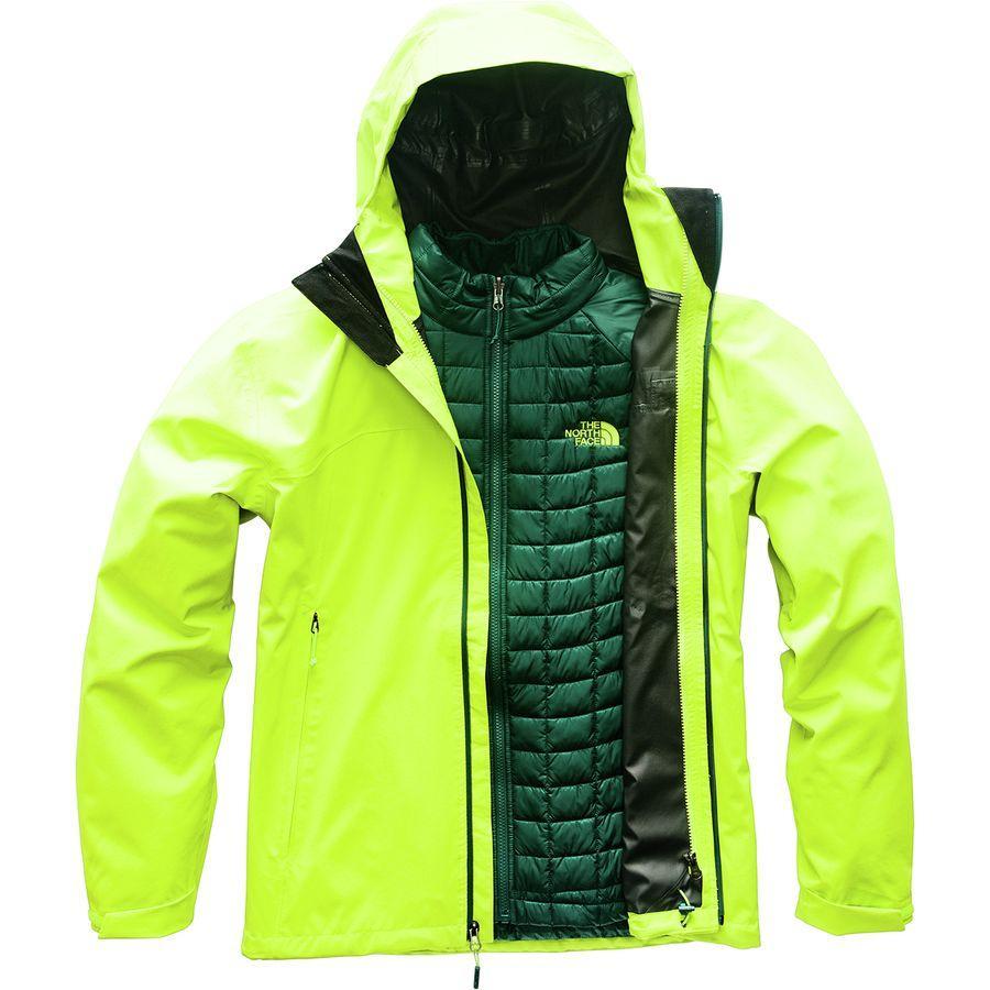 (取寄)ノースフェイス メンズ サーモボール トリクラメイト インサレーテッド ジャケット The North Face Men's Thermoball Triclimate Insulated Jacket Lime Green/Lime Green