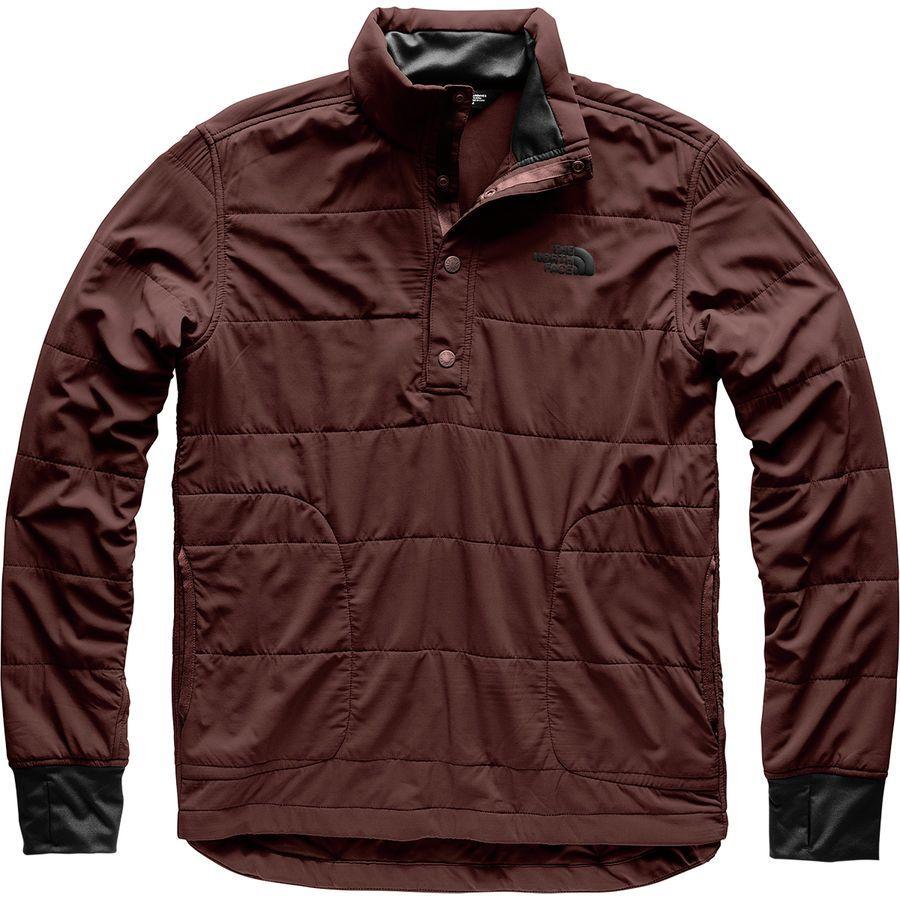 (取寄)ノースフェイス メンズ マウンテン トレーナー 1/4スナップ ネック ジャケット The North Face Men's Mountain Sweatshirt 1/4 Snap Neck Jacket Sequoia Red