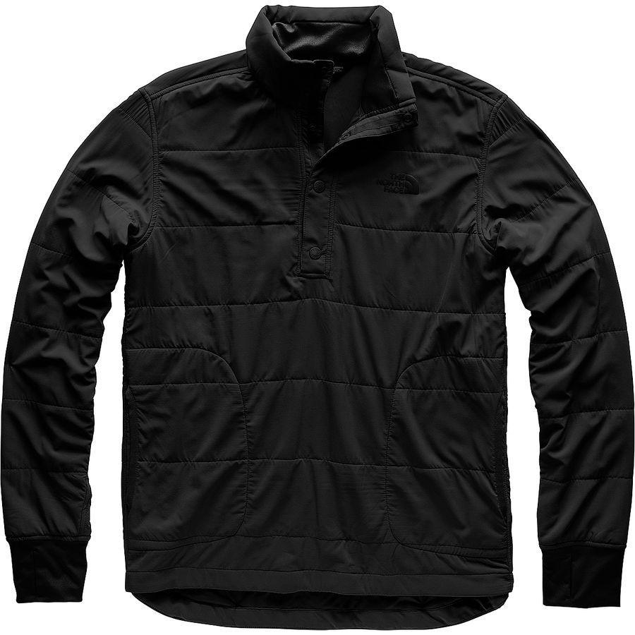 【クーポンで最大2000円OFF】(取寄)ノースフェイス メンズ マウンテン トレーナー 1/4スナップ ネック ジャケット The North Face Men's Mountain Sweatshirt 1/4 Snap Neck Jacket Tnf Black