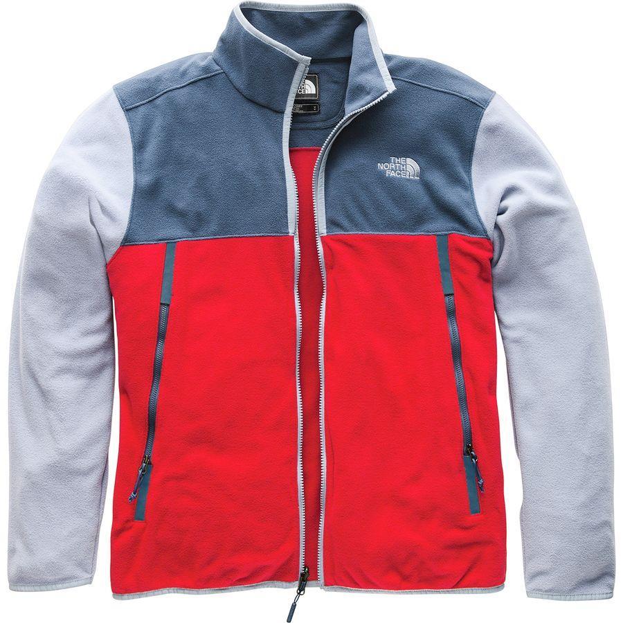 (取寄)ノースフェイス メンズ グレイシャー アルパイン フリース ジャケット The North Face Men's Glacier Alpine Fleece Jacket Rage Red/Shady Blue/Gull Blue