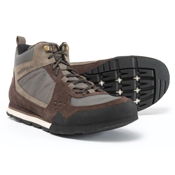(取寄)メレル メンズ バーント ロック ミッド ブーツ Merrell Men's Burnt Rock Mid Boots Woodland Brown