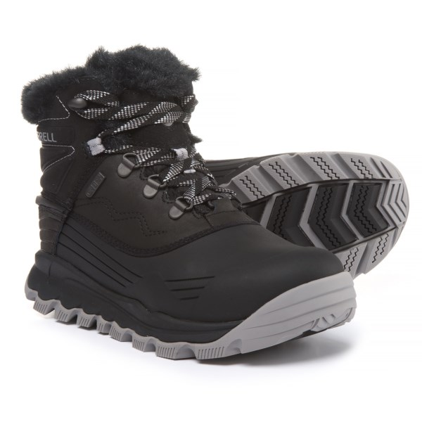 (取寄)メレル レディース サーモ ヴォルテックス 6パック ブーツ Merrell Women Thermo Vortex 6 Pac Boots Black
