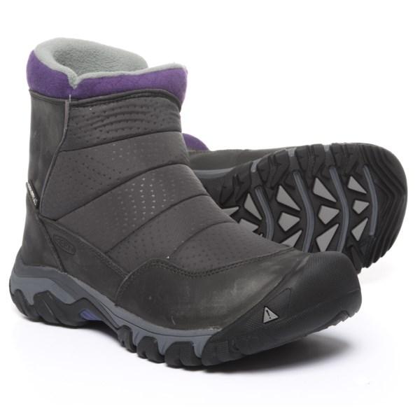 (取寄)キーン レディース ホードー 3 ジップ スノー ブーツ Keen Women Hoodoo III Zip Snow Boots Earl Grey/Purple Plumeria