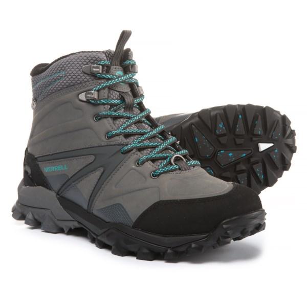 (取寄)メレル レディース キャプラ グレイシャル アイス+ ミッド ハイキング ブーツ Merrell Women Capra Glacial Ice+ Mid s Hiking Boot Charcoal/Grey