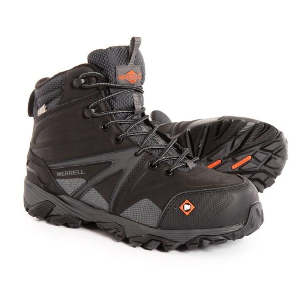 (取寄)メレル メンズ トレイルワーク ミッド ワーク ブーツ Merrell Men's Trailwork Mid Work Boots Black