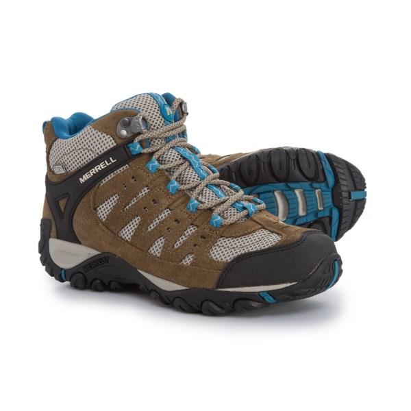 (取寄)メレル レディース アクセンター ミッド ベント ハイキング ブーツ Merrell Women Accentor Mid Vent s Hiking Boot Kangaroo/Celestia