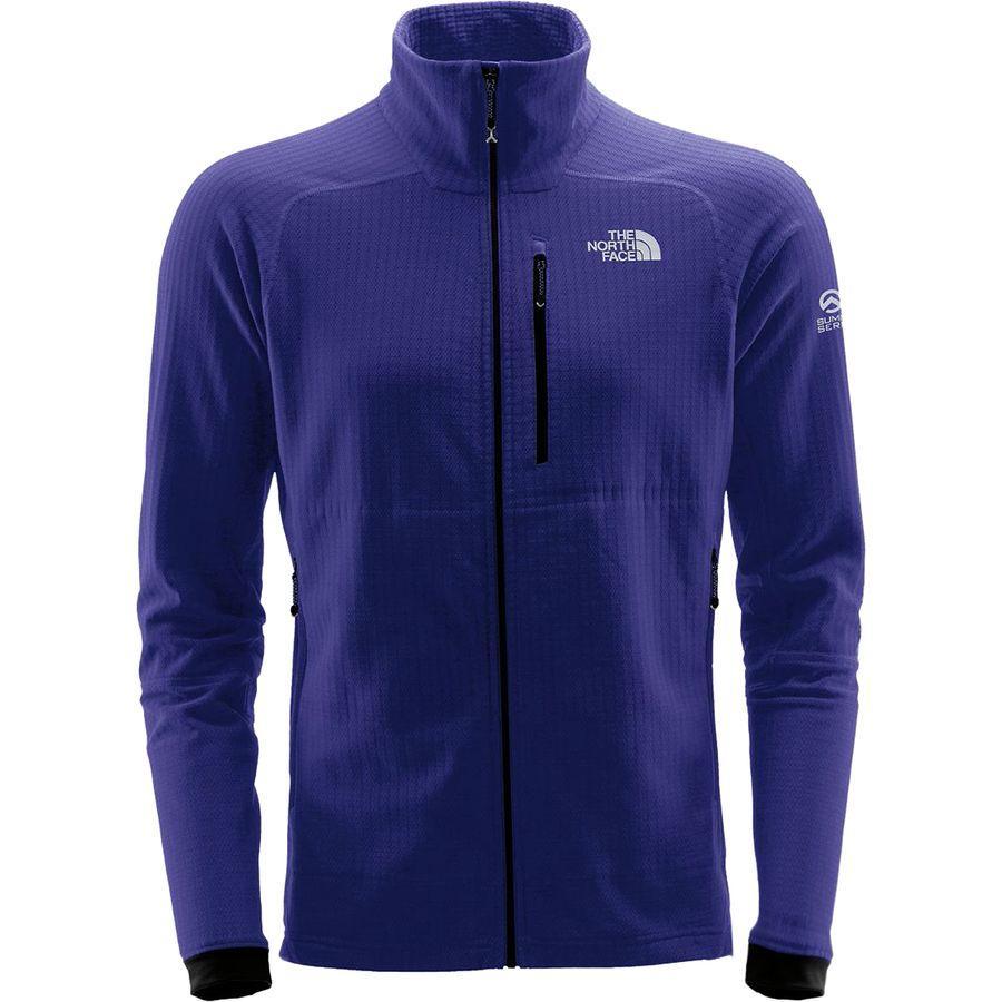 (取寄)ノースフェイス メンズ サミット L2ヒューズフォーム グリッド フリース ジャケット The North Face Men's Summit L2 FuseForm Grid Fleece Jacket Inauguration Blue