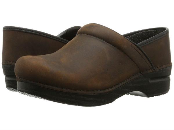 (取寄)ダンスコ レディース プロフェ ッショナル Dansko Women Professional Antique Brown/Black Oiled Leather