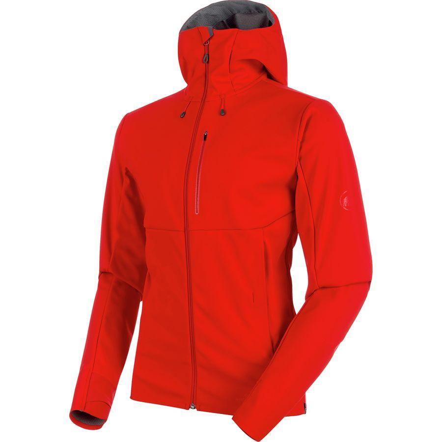 (取寄)マムート メンズ アルティメイト V SO フーデッド ジャケット Mammut Men's Ultimate V SO Hooded Jacket Magma/Titanium Melange