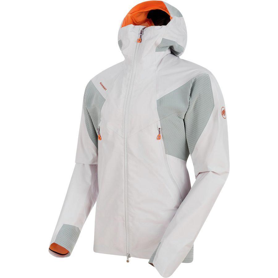 (取寄)マムート メンズ ノードワンド HS フレックス フーデッド ジャケット Mammut Men's Nordwand HS Flex Hooded Jacket Marble/Granit