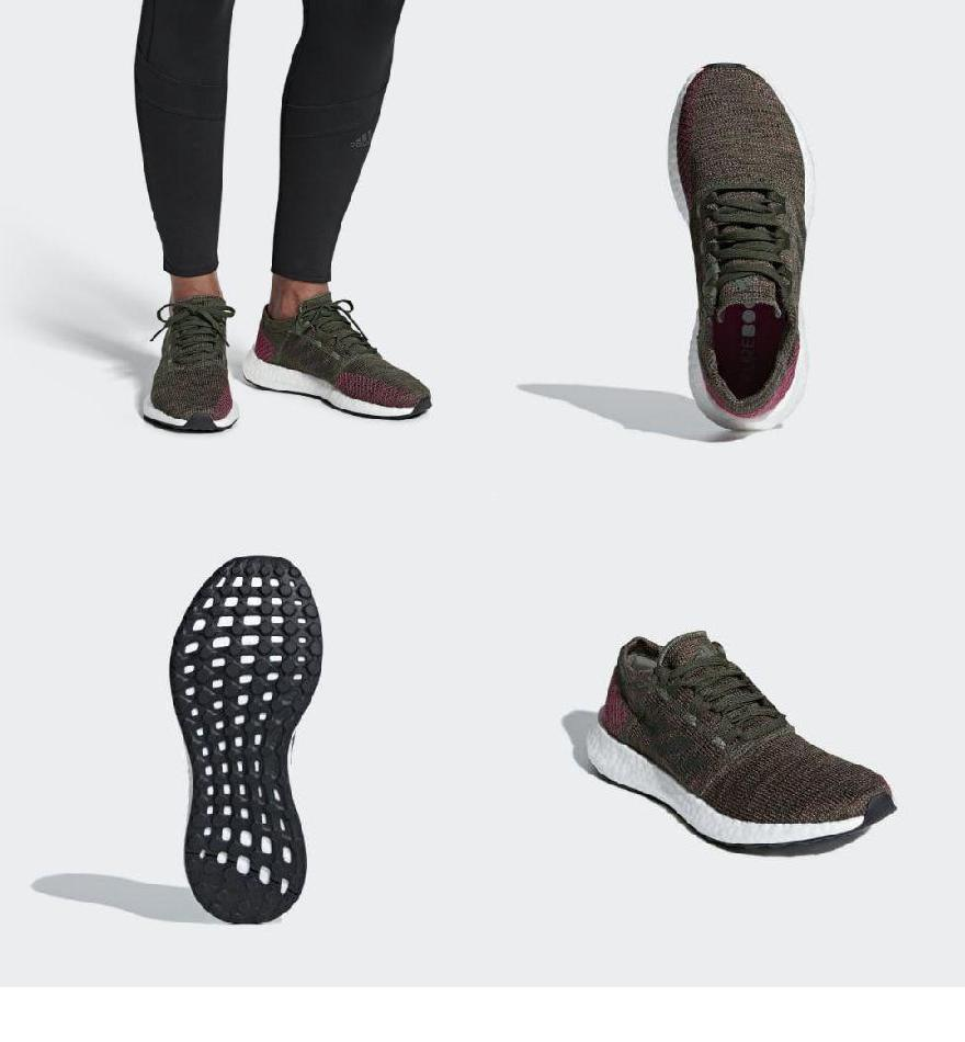 44a744af4e83ab (order) Adidas lady s pure boost go running shoes adidas Women Pureboost Go  Shoes Base Green   Night Cargo   Trace Maroon