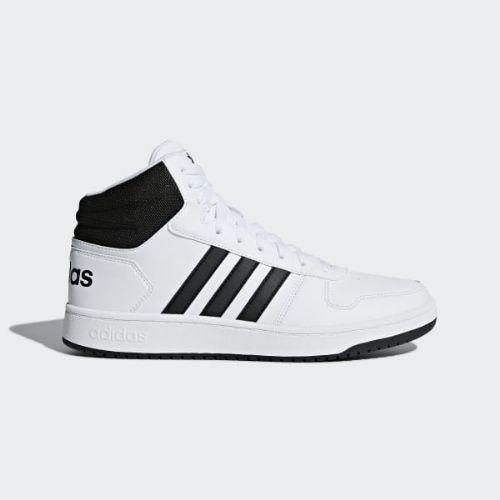 (order) Adidas men hoops 2.0 mid basketball shoes adidas Men s Hoops 2.0  Mid Shoes Cloud White   Core Black   Core Black 3cab8c6d2
