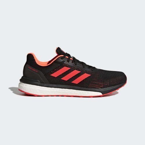 (取寄)アディダス メンズ レスポンス St ランニングシューズ adidas Men's Response ST Shoes Core Black / Hi-Res Red / Solar Orange