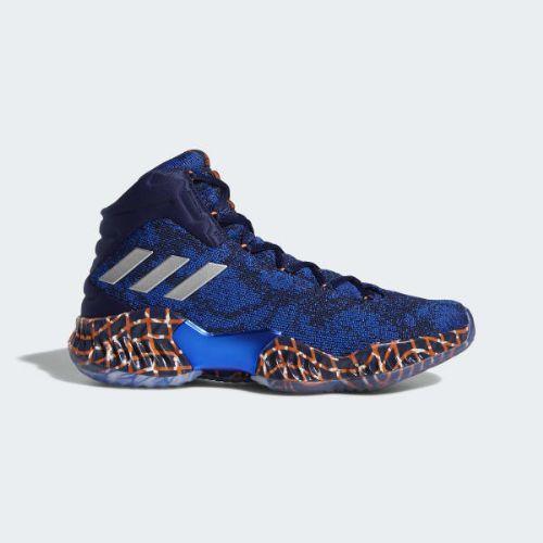 (取寄)アディダス メンズ プロ バウンス 2018プレーヤー エディション バスケットボールシューズ adidas Men's Pro Bounce 2018 Player Edition Shoes Blue / Hi-Res Orange / Off White