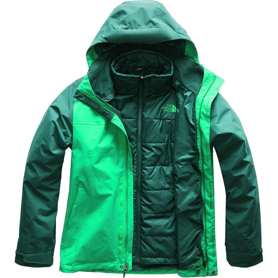 (取寄)ノースフェイス メンズ カルト トリクラメイト フーデッド ジャケット The North Face Men's Carto Triclimate Hooded Jacket Primary Green/Botanical Garden Green
