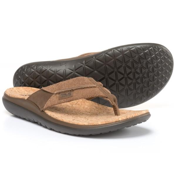 60fb90853464 JETRAG Rakuten Ichiba Shop  (order) Teva men Terra-Float flip Lux sandals  Teva Men s Terra-Float Flip Lux Sandals Dark Earth