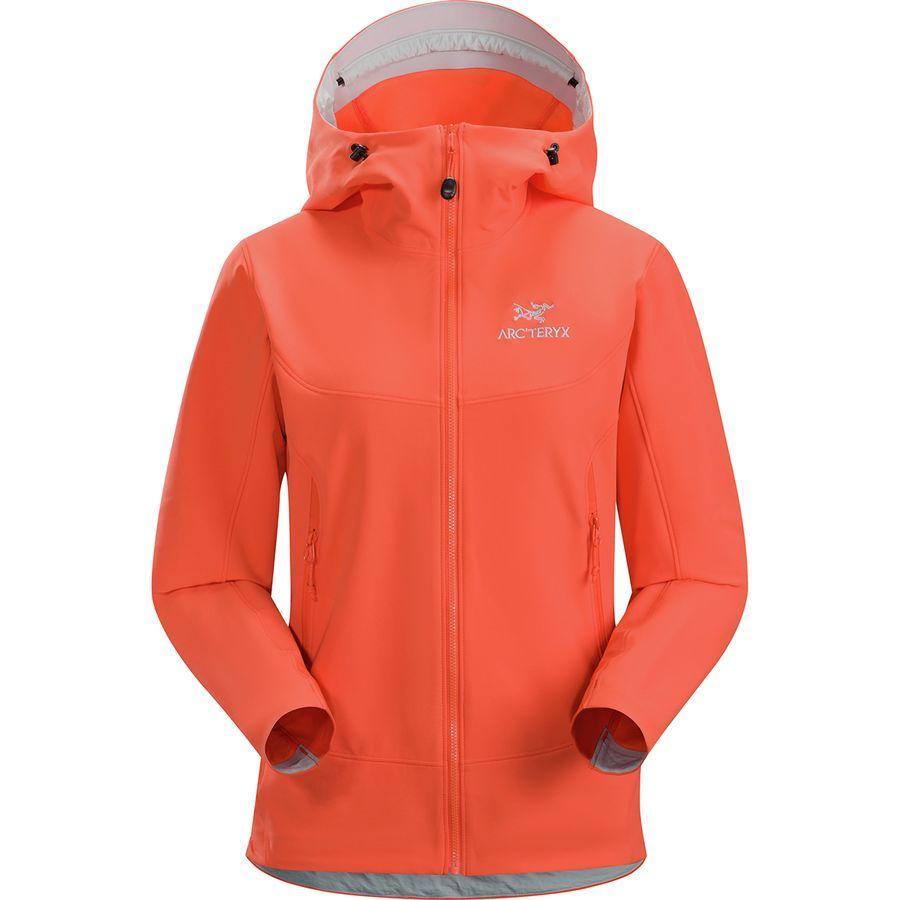【ハイキング 登山 マウンテン アウトドア】【ウェア アウター】【山ガール ファッション ブランド】【大きいサイズ ビッグサイズ】 (取寄)アークテリクス レディース ガマー LT フーデッド ソフトシェル ジャケット Arc'teryx Women Gamma LT Hooded Softshell Jacket Aurora