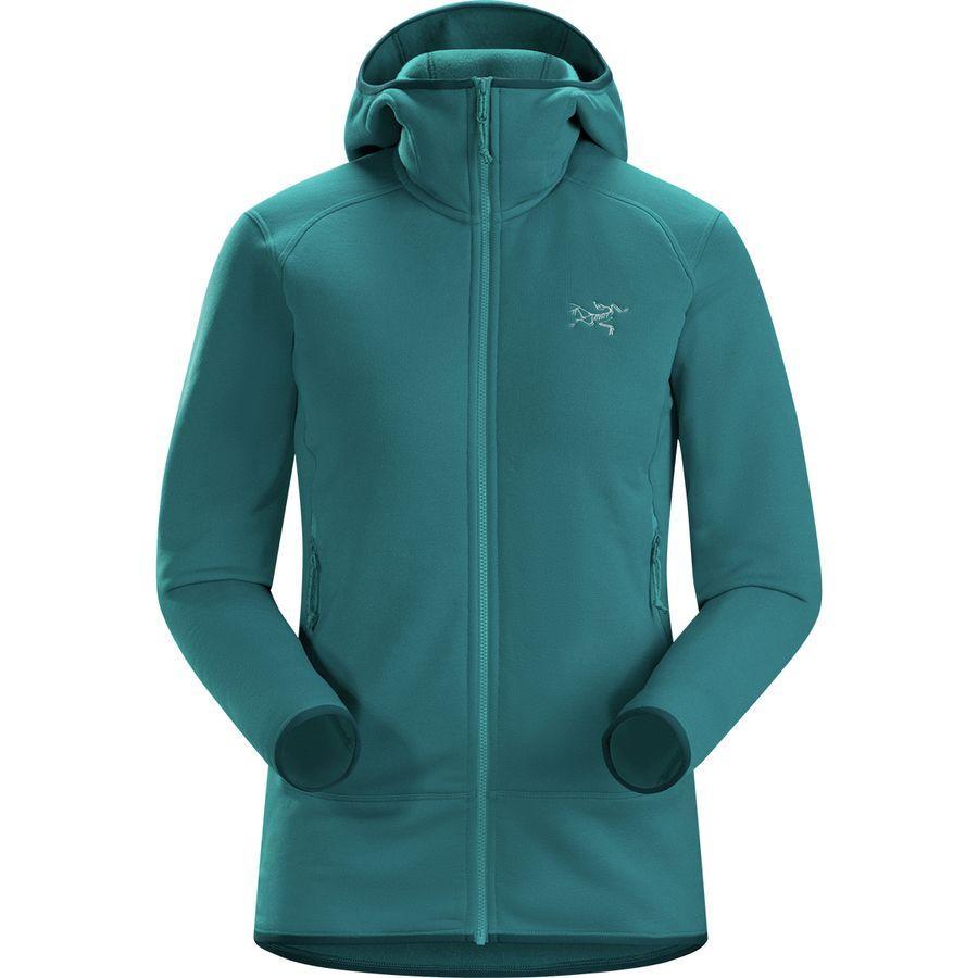 (取寄)アークテリクス レディース カイヤナイト フーデッド フリース ジャケット Arc'teryx Women Kyanite Hooded Fleece Jacket Dark Firoza