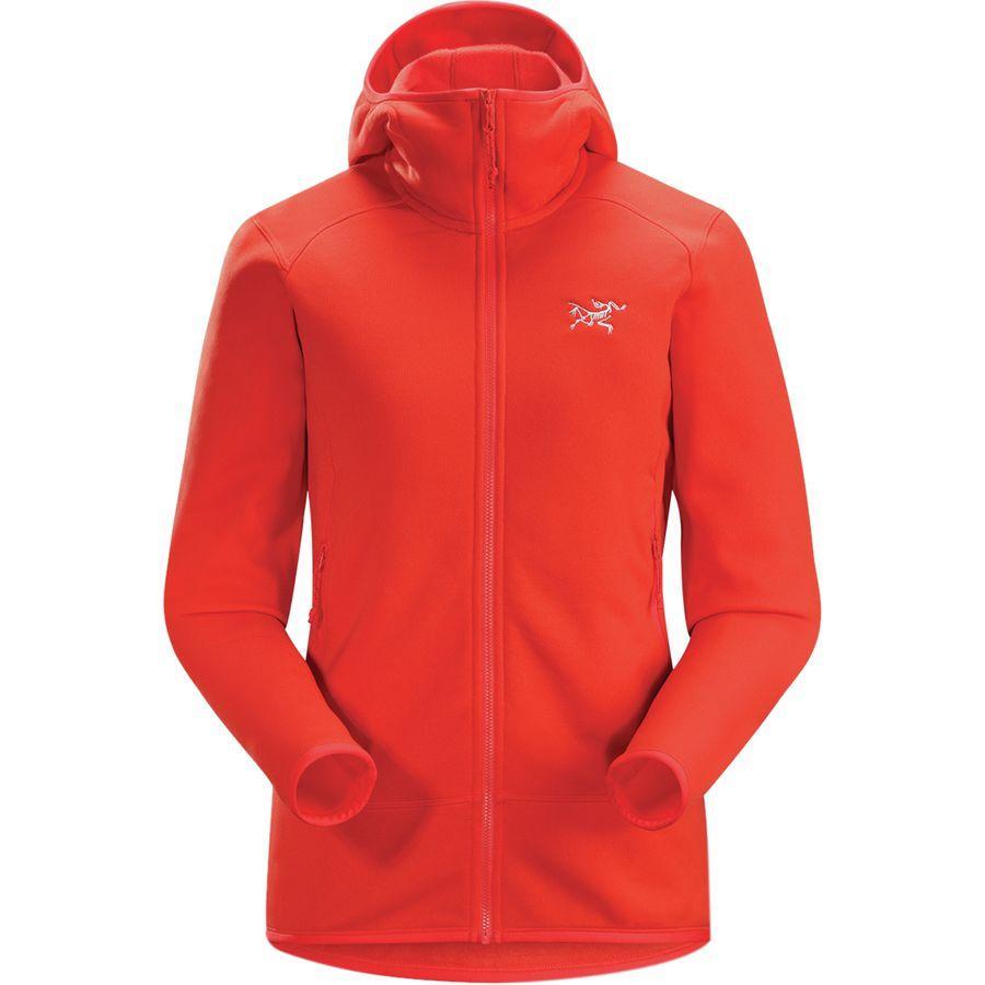 (取寄)アークテリクス レディース カイヤナイト フーデッド フリース ジャケット Arc'teryx Women Kyanite Hooded Fleece Jacket Hard Coral