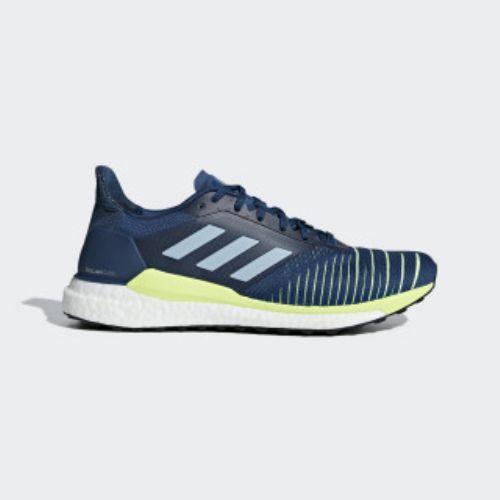 (取寄)アディダス メンズ ソーラー グライド ランニングシューズ adidas Men's Solar Glide Shoes Legend Marine / Ash Grey / Hi-Res Yellow