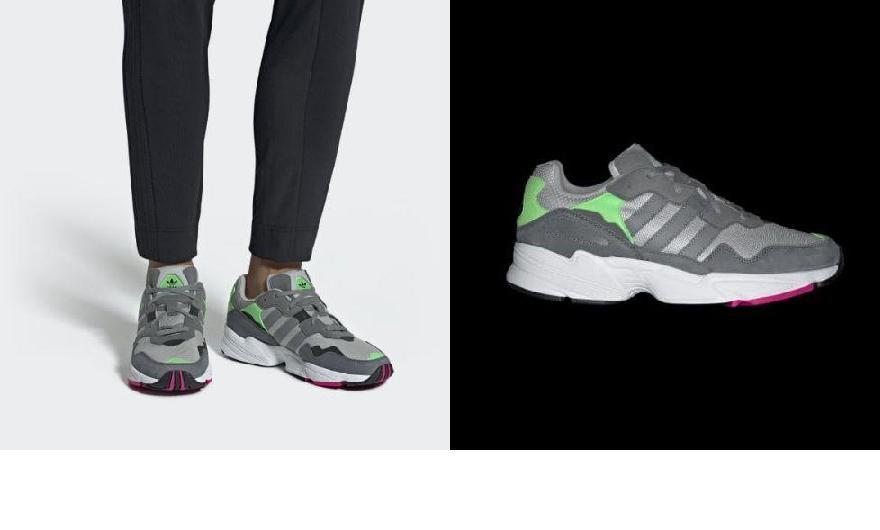hot sale online 99e7c cfd51 (order) Adidas originals men Yoon -96 shoes adidas originals Mens Yung-96  Shoes Grey  Grey  Shock Pink