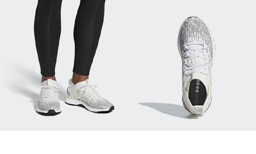 best sneakers 959f4 194d1 (order) Adidas men s pure boost RBL running shoes adidas Men s Pureboost RBL  Shoes Cloud White   Raw White   Grey